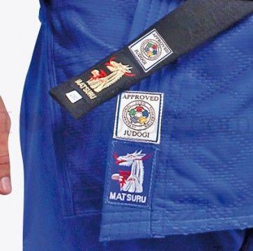 Matsuru judopak IJF Mondial blauw Getailleerd