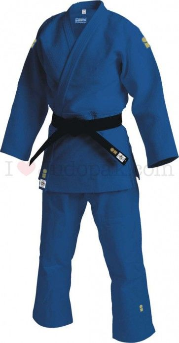 Essimo judopak Gold IJF Blauw Getailleerd