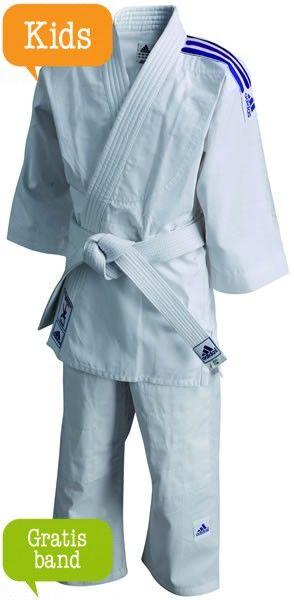 adidas Judopak J200 Evolution Wit/Blauw ADIJ200WB