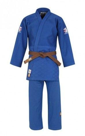 Matsuru 0063 judopak IJF Mondial blauw Getailleerd