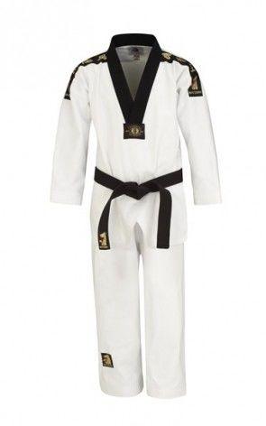 Matsuru 0124 Taekwondo pak V-hals zwart