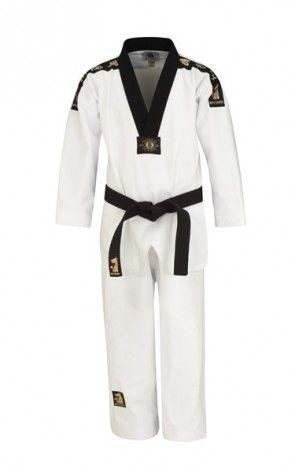 Matsuru 01242 Taekwondopak V-hals zwart geborduurd