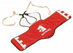 Matsuru Taekwondo Borstbeschermer rood