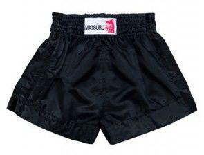 Matsuru 95315 kickboks short all black (lekker zwart)
