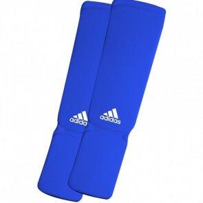 adidas Elastische Scheen/wreefbeschermers Blauw ADIBP08B