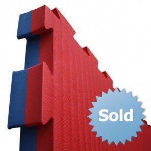Puzzelmat 1 m² rood/blauw (4 cm)