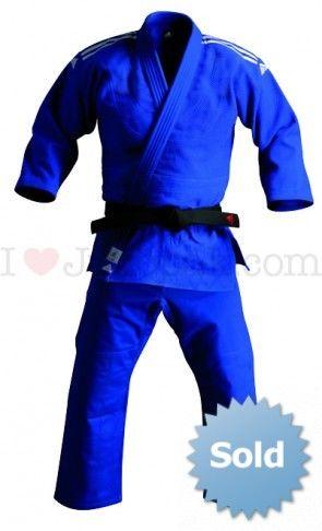 Adidas judopak champion J800 Blauw