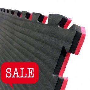 Puzzelmat 1 m² rood/zwart (4 cm)