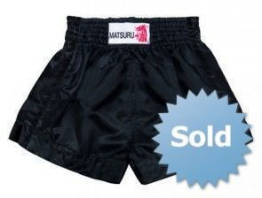 Matsuru 95315 kickboks short all black (lekker zwart)